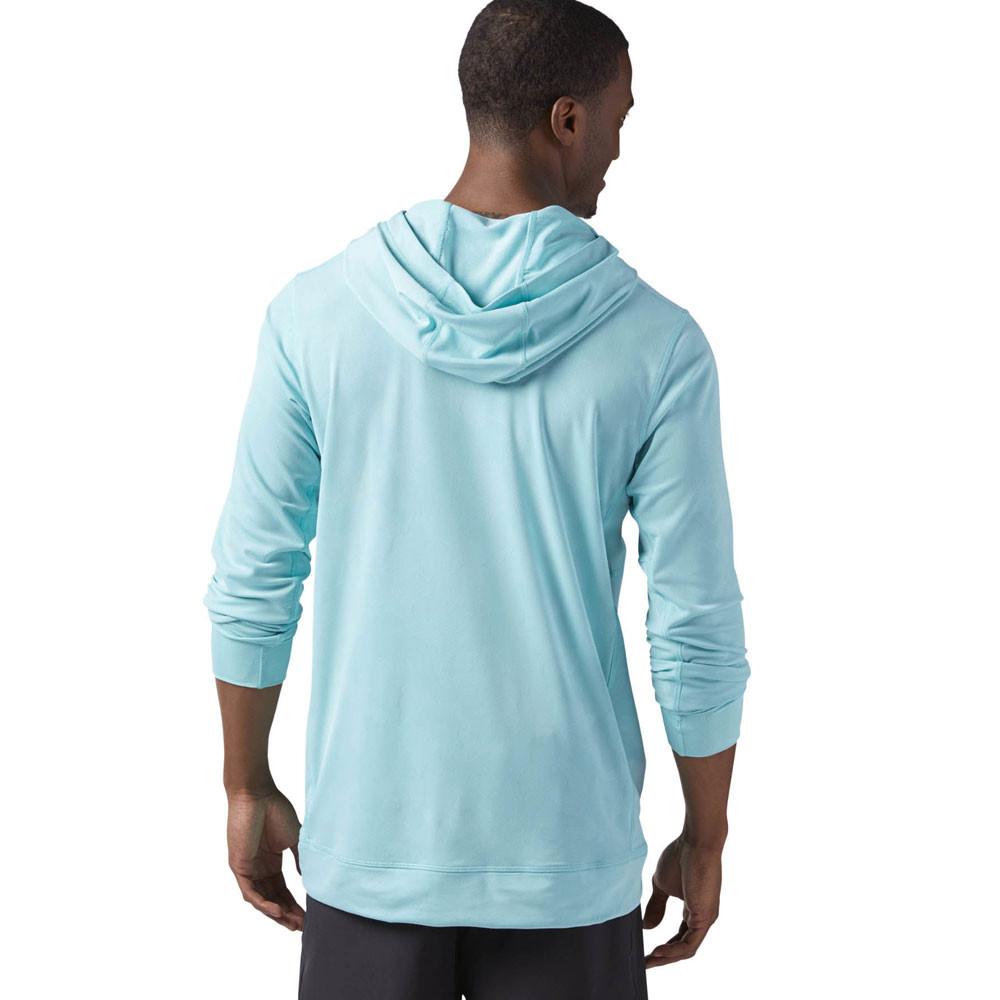 Reebok  Herren CrossFit Jacquard Training Gym Fitness Hoodie Hooded Blau Sports Hooded Hoodie 9bf395