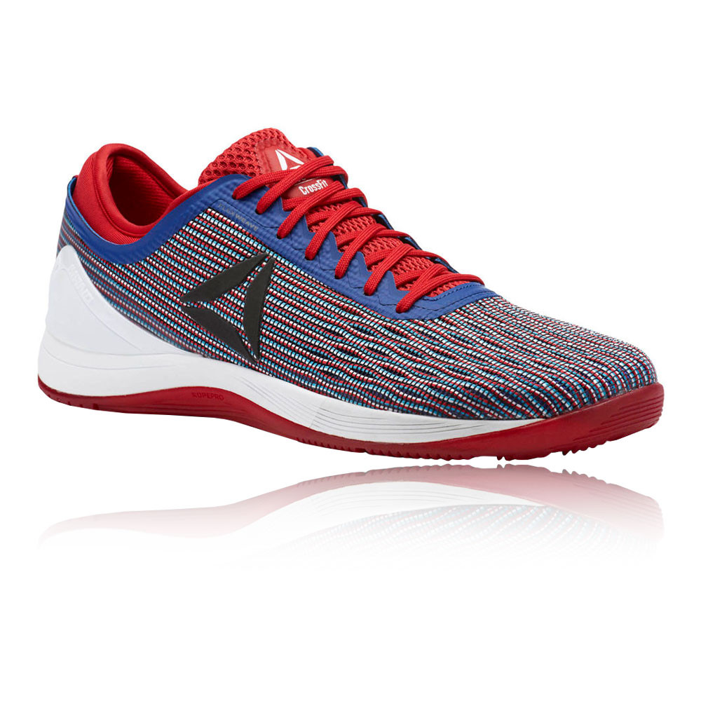 e3784059661 Details about Reebok Mens CrossFit Nano 8.0 Flexweave Training Gym Shoes  Blue Red Trainers