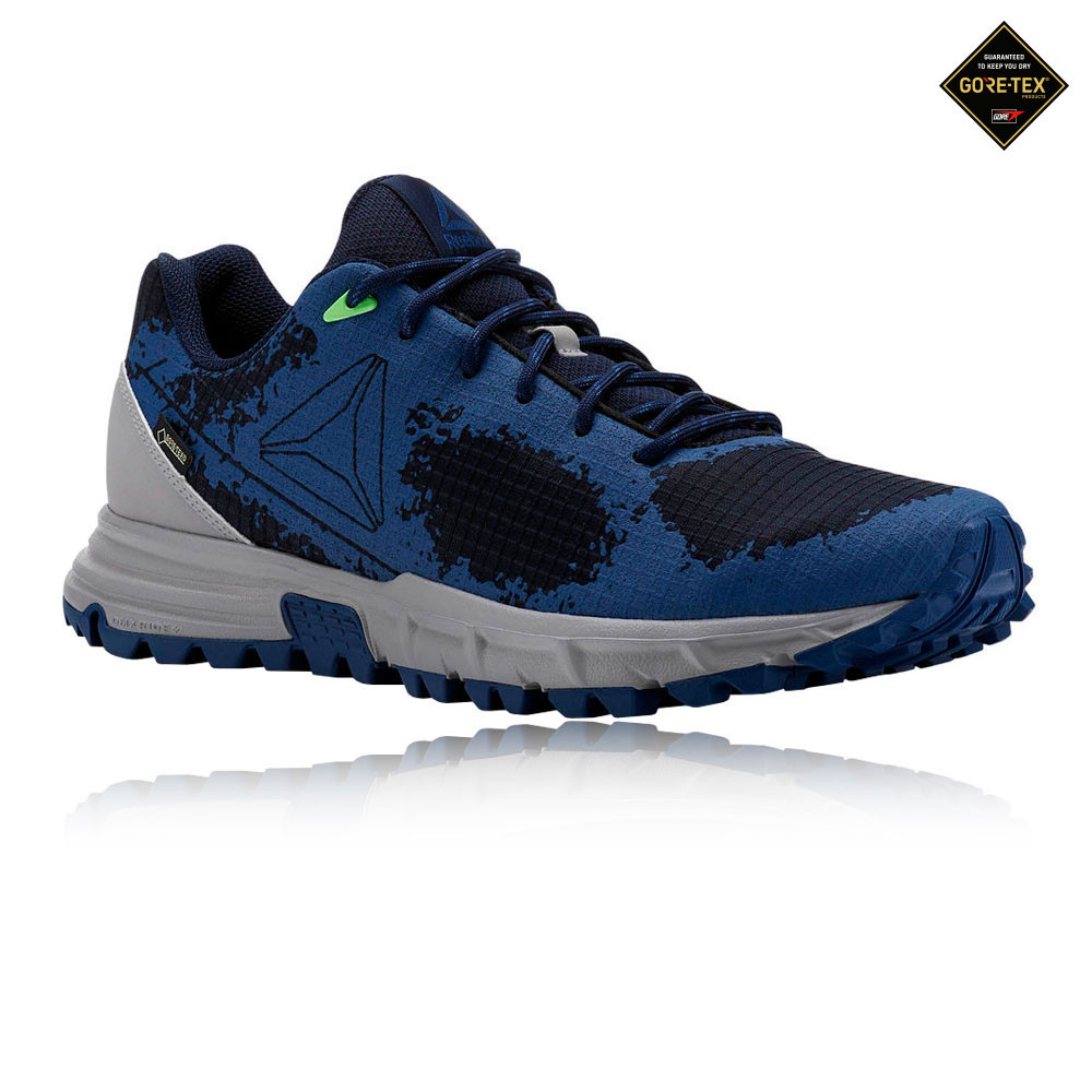 fbdd17731bf4 Details about Reebok Mens Sawcut GORE-TEX 6.0 Trail Shoes Navy Blue Sports  Running Waterproof