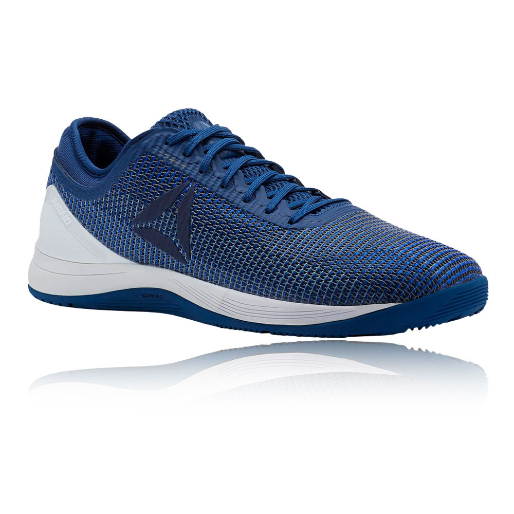 faf76c3e219 Details about Reebok Mens CrossFit Nano 8.0 Flexweave Training Gym Shoes  Navy Blue Trainers