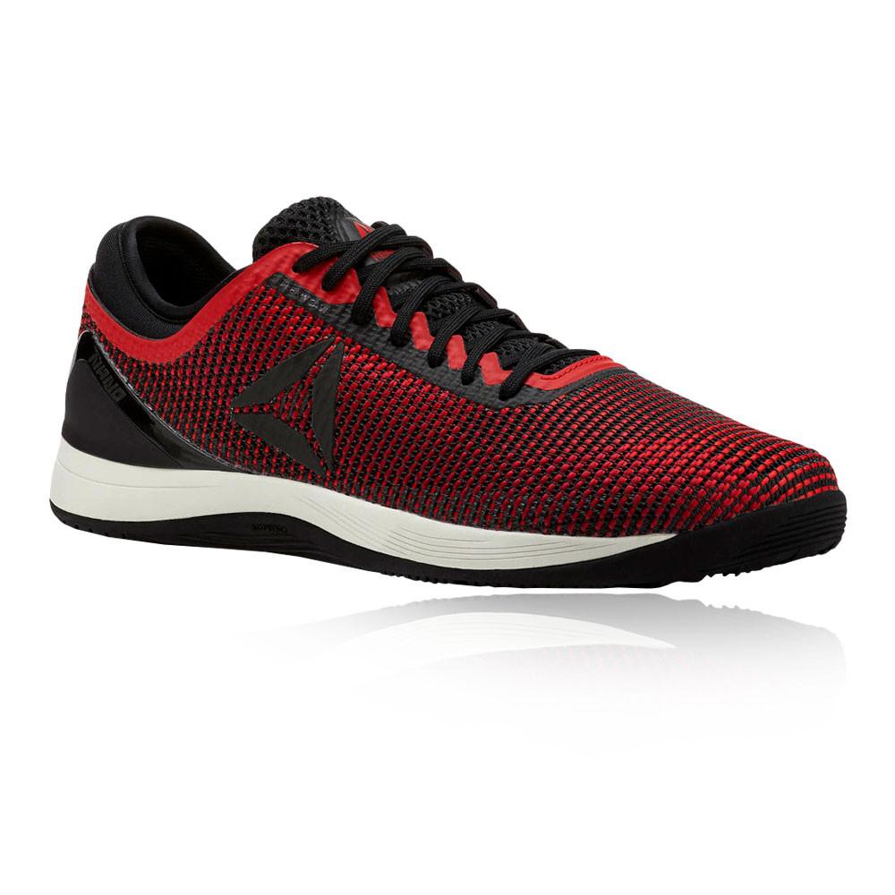 11be7ae465e Reebok Mens Crossfit Nano 8.0 Flexweave Training Gym Fitness Shoes Black Red
