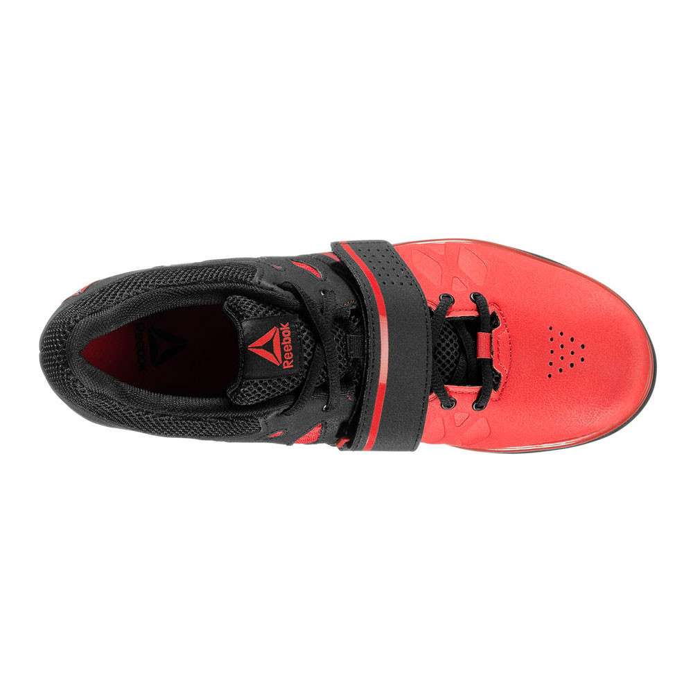 Reebok Mens Lifter PR Training Gym Fitness Shoes Black Red Sports  Weightlifting 7ef427bc6