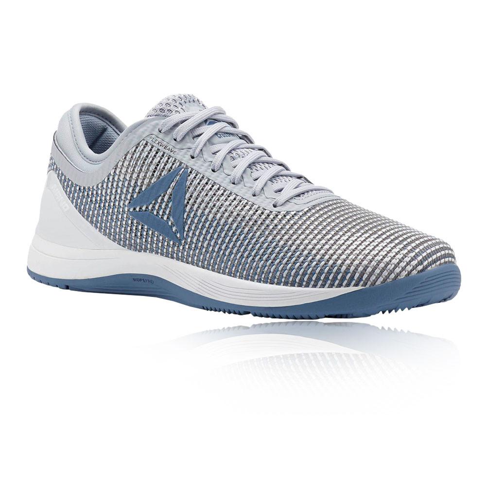 2753d15d6e3 Reebok Womens Crossfit Nano 8.0 Flexweave Training Gym Shoes Blue ...