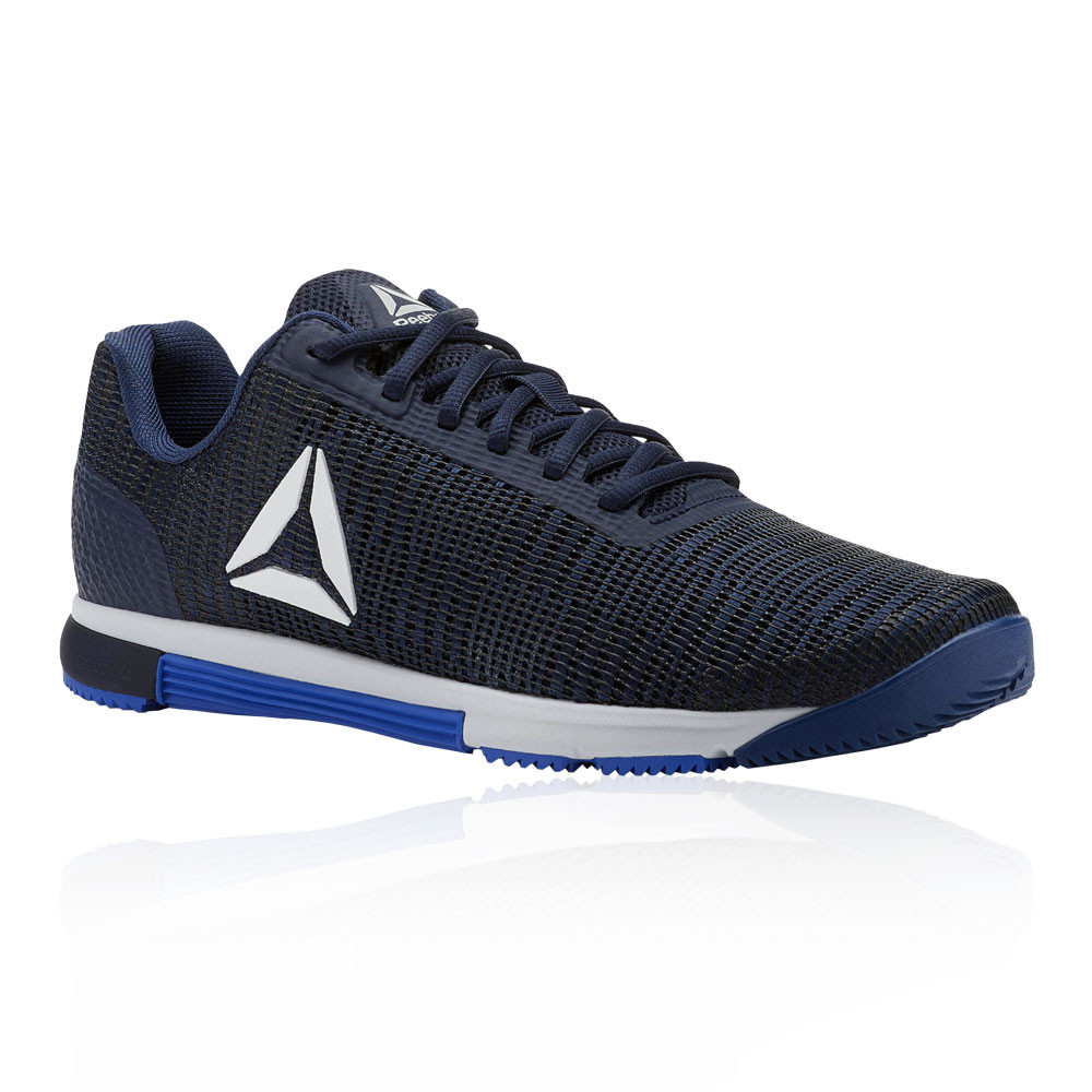 3db239aee830 Details about Reebok Mens Speed TR Flexweave Training Gym Fitness Shoes  Navy Blue Sports