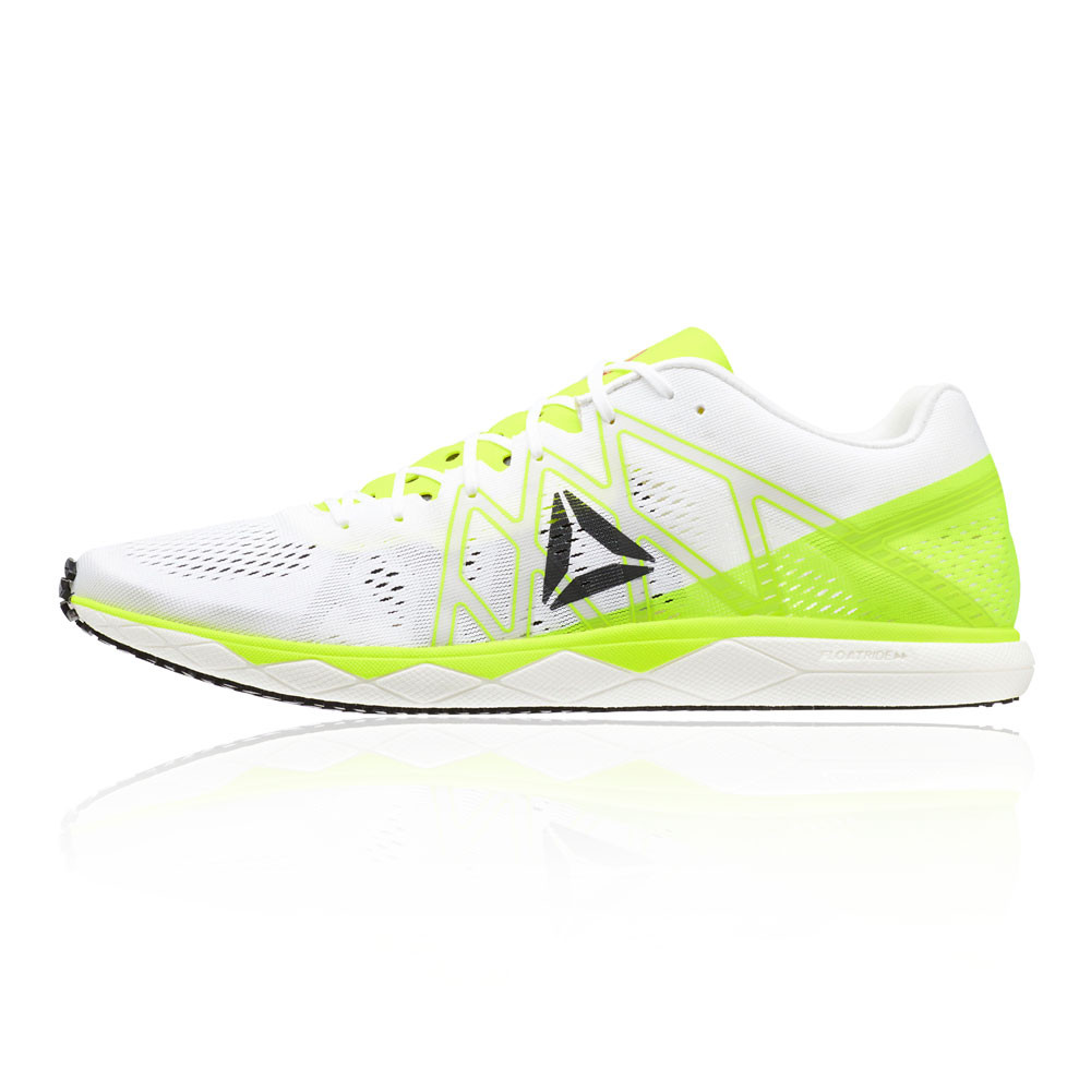 49681fe3315cfb Reebok Mens Floatride Run Fast Pro Running Shoes Trainers Sneakers Green  White