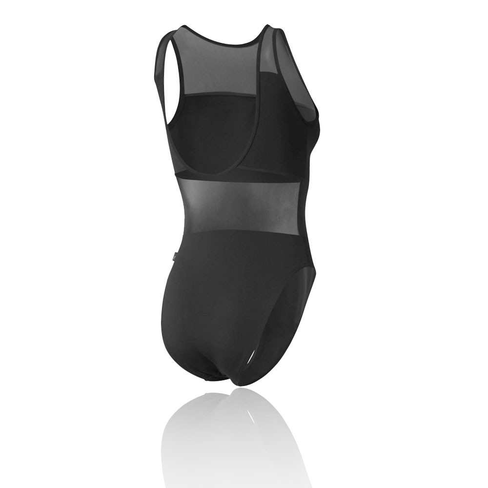 8a0b0e763ed2 Details about Reebok Womens Dance Leotard Black Sports Gym Breathable  Lightweight