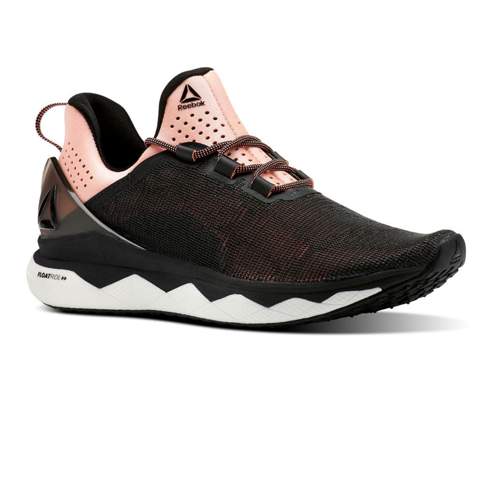 Reebok Womens Floatride Run Smooth Running Shoes Trainers Sneakers Black  Sports 2e7f833c1