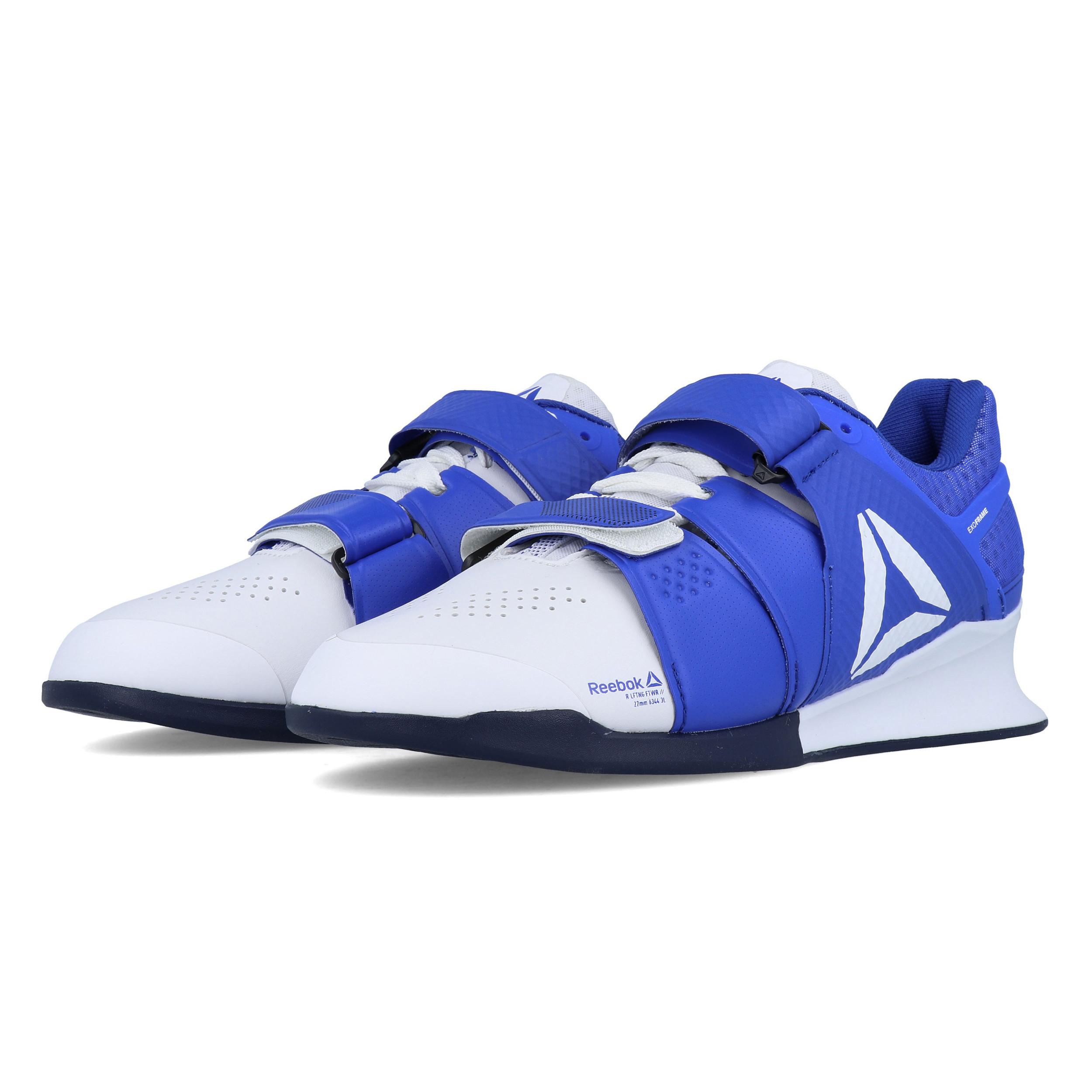 Détails sur Reebok Hommes Legacy Lifter Entraînement Gym Baskets De Sport Chaussures Bleu