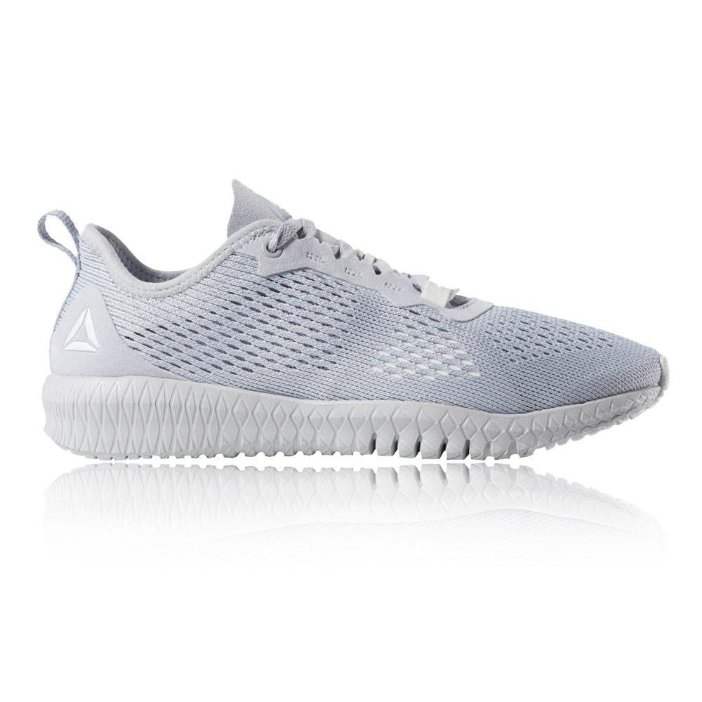 09053cc6368d0 Reebok Mujer Flexagon Entrenar Gimnasio Zapatos Gris Deporte Transpirable