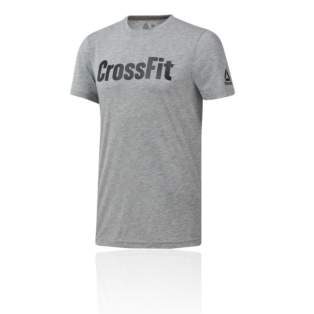 9e836e4c Details about Reebok Mens CrossFit FEF Training Gym Fitness T Shirt Tee Top  Grey Sports