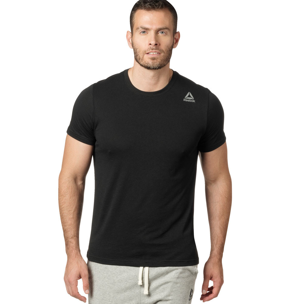 7a32418672 Details about Reebok Mens Classic T Shirt Tee Top Black Sports Gym Running  Breathable