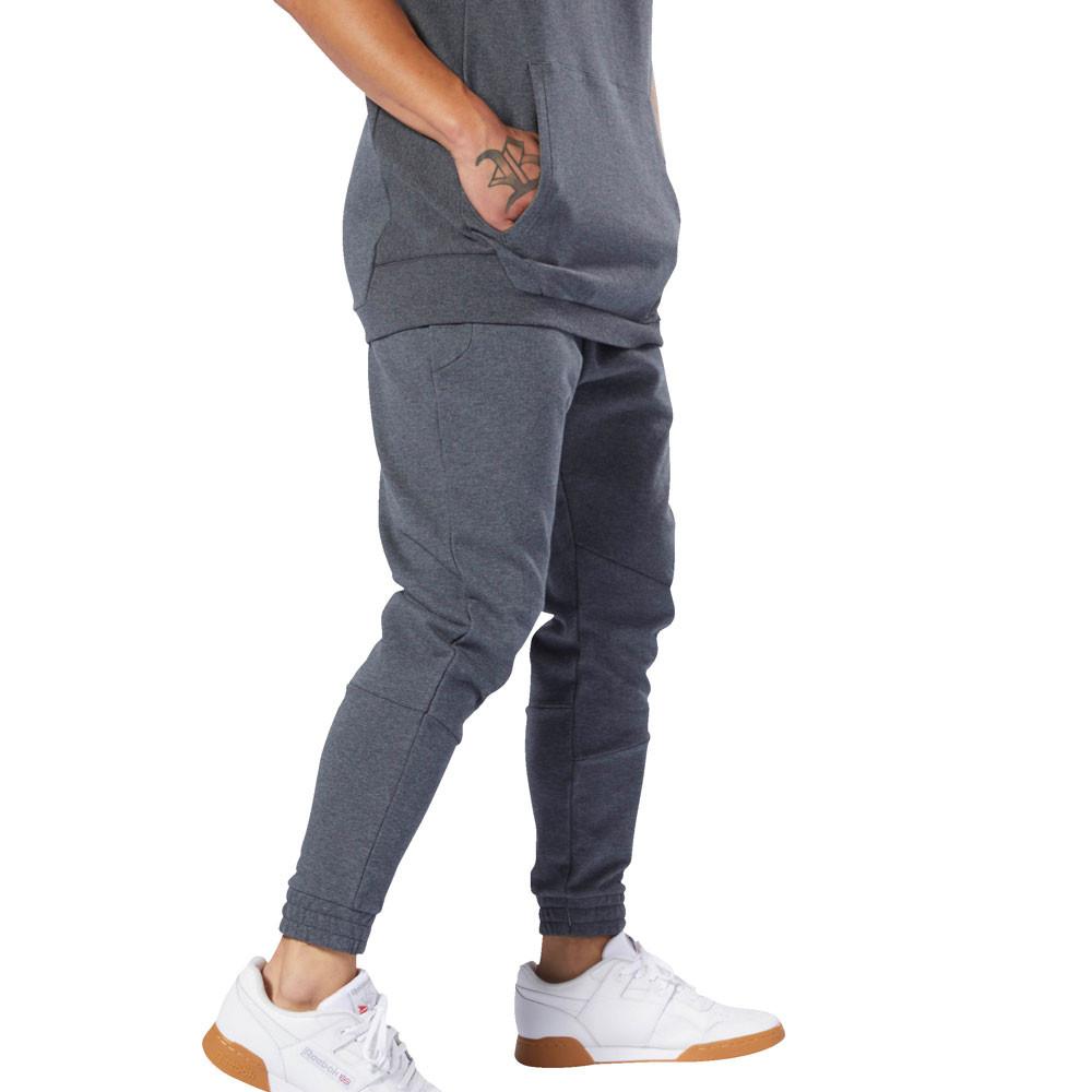 Détails sur Reebok Hommes Legacy Pants Trousers Bas De Survêtement Pantalon Sport Gris