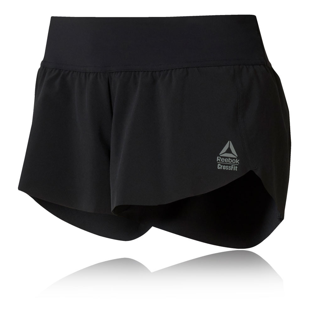 23034969db Details about Reebok Womens RC Training Gym Fitness Shorts Pants Trousers  Bottoms Black Sports