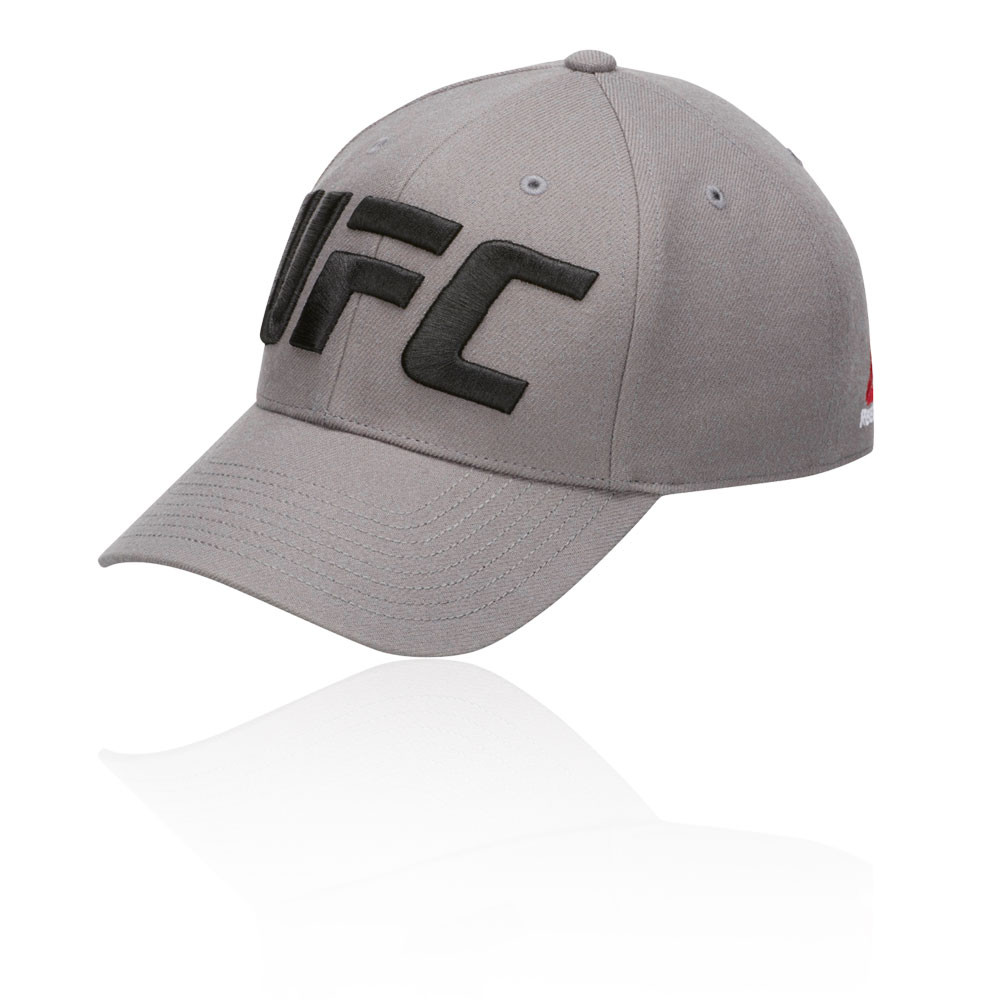 543b11e0396 Details about Reebok Unisex UFC Baseball Hat Cap Grey Sports Gym Outdoors  Breathable