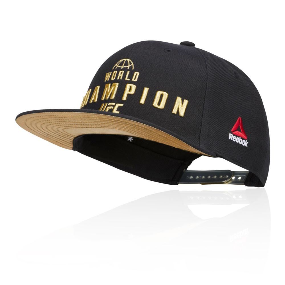 Details about Reebok Unisex UFC Champion Cap Black Sports Gym Outdoors  Breathable Lightweight e2541d5c02d9