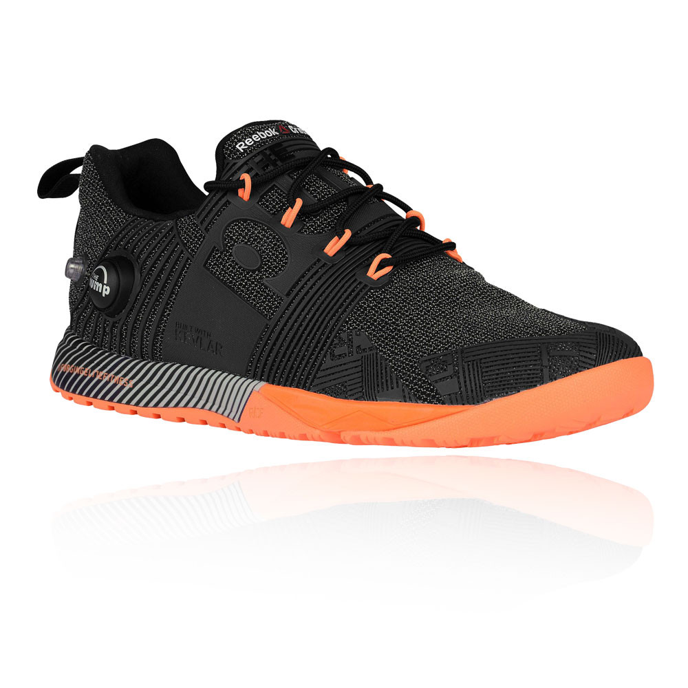 the best attitude 8fec9 b2611 Reebok Femmes Crossfit Nano Pump 2.0 Chaussures De Sport Noir Orange Gym