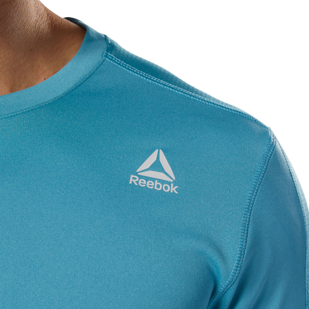 7da61f6326 Details about Reebok Mens WOR Tech Top T-Shirt Blue Sports Gym Breathable