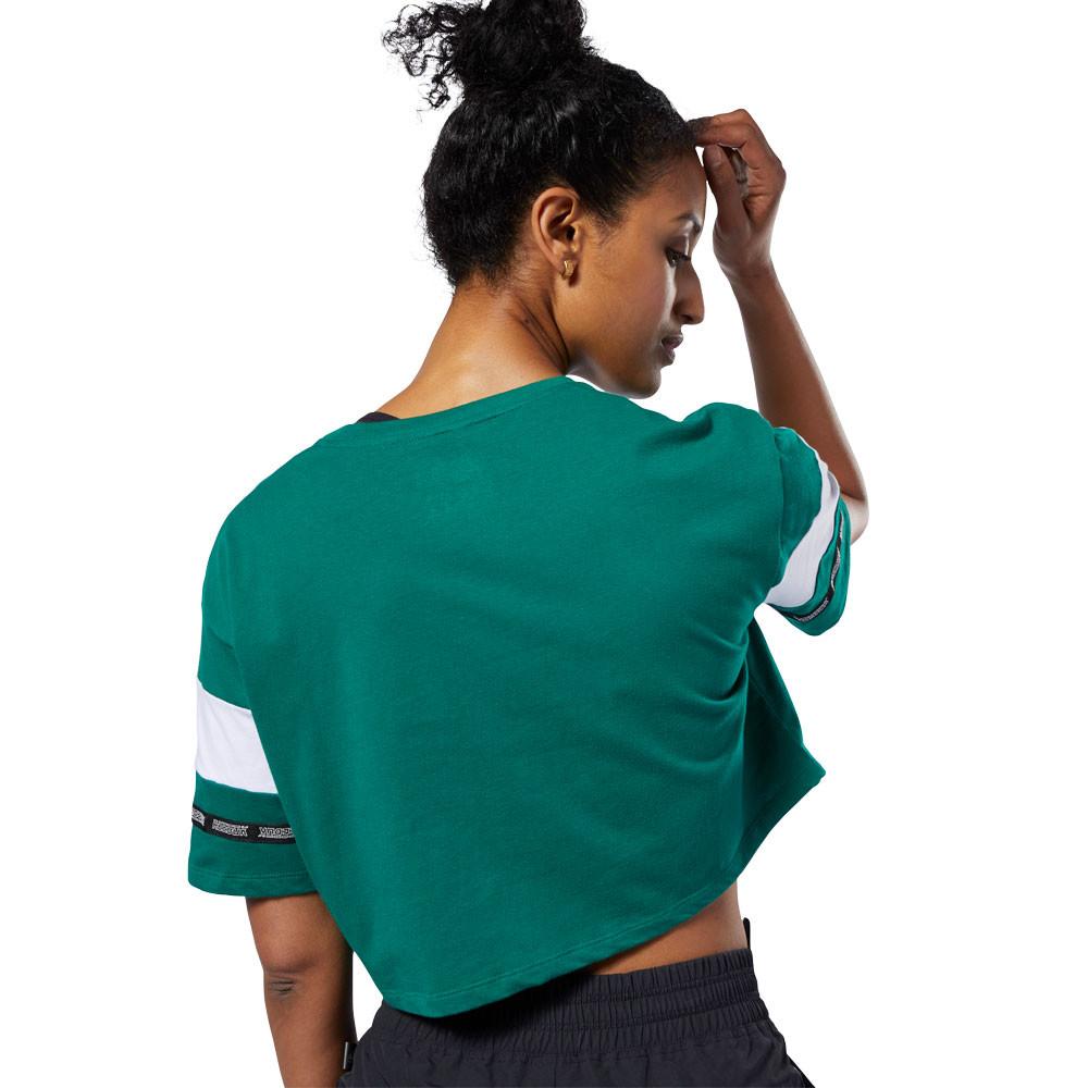 Détails sur Reebok Femmes Wor Meet You There Entraînement Gym Fitness T Shirt Tee Top