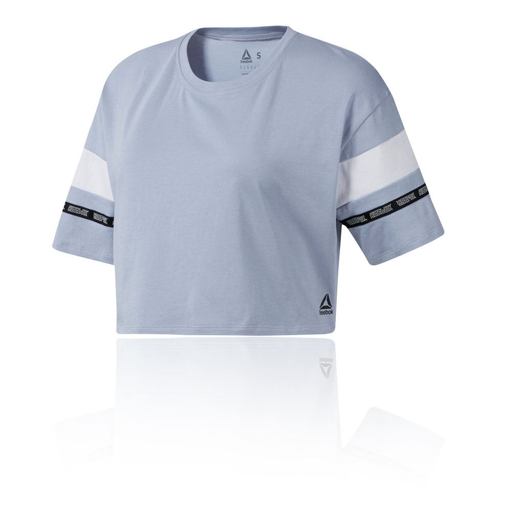 Détails sur Reebok Femmes WOR Meet You There Entraînement Gym Fitness T Shirt Tee Top Blue
