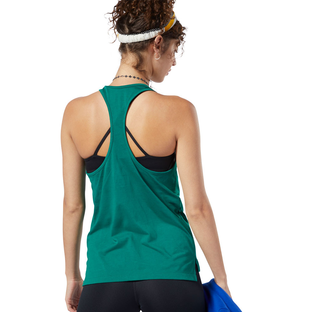 8fe26abe Details about Reebok Womens Workout Ready Supremium 2.0 Big Logo Tank Top -  Green Sports Gym
