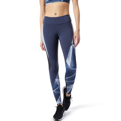 Reebok Lux Colorblock Tight 2.0 Shattered Ice Women's Tights - AW19