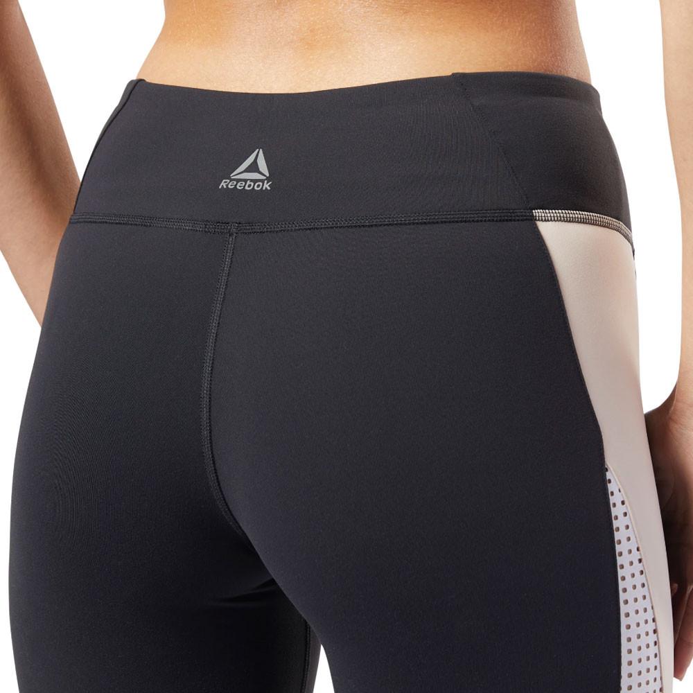 Détails sur Haut femme Reebok Lux 2.0 Collants Bas Pantalon Noir Sport Gym afficher le titre d'origine