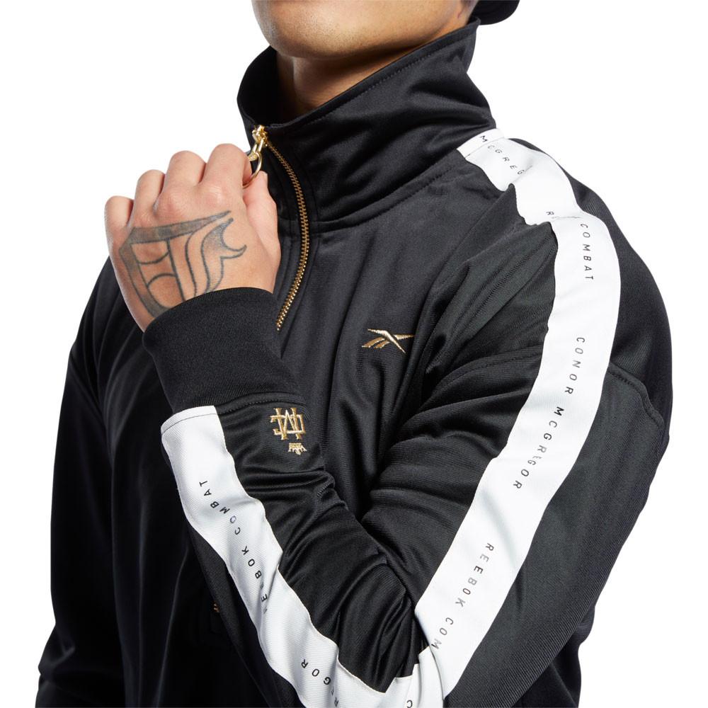 Details about Reebok Mens CBT CMG Track Suit Black Sports Gym Half Zip Warm Breathable