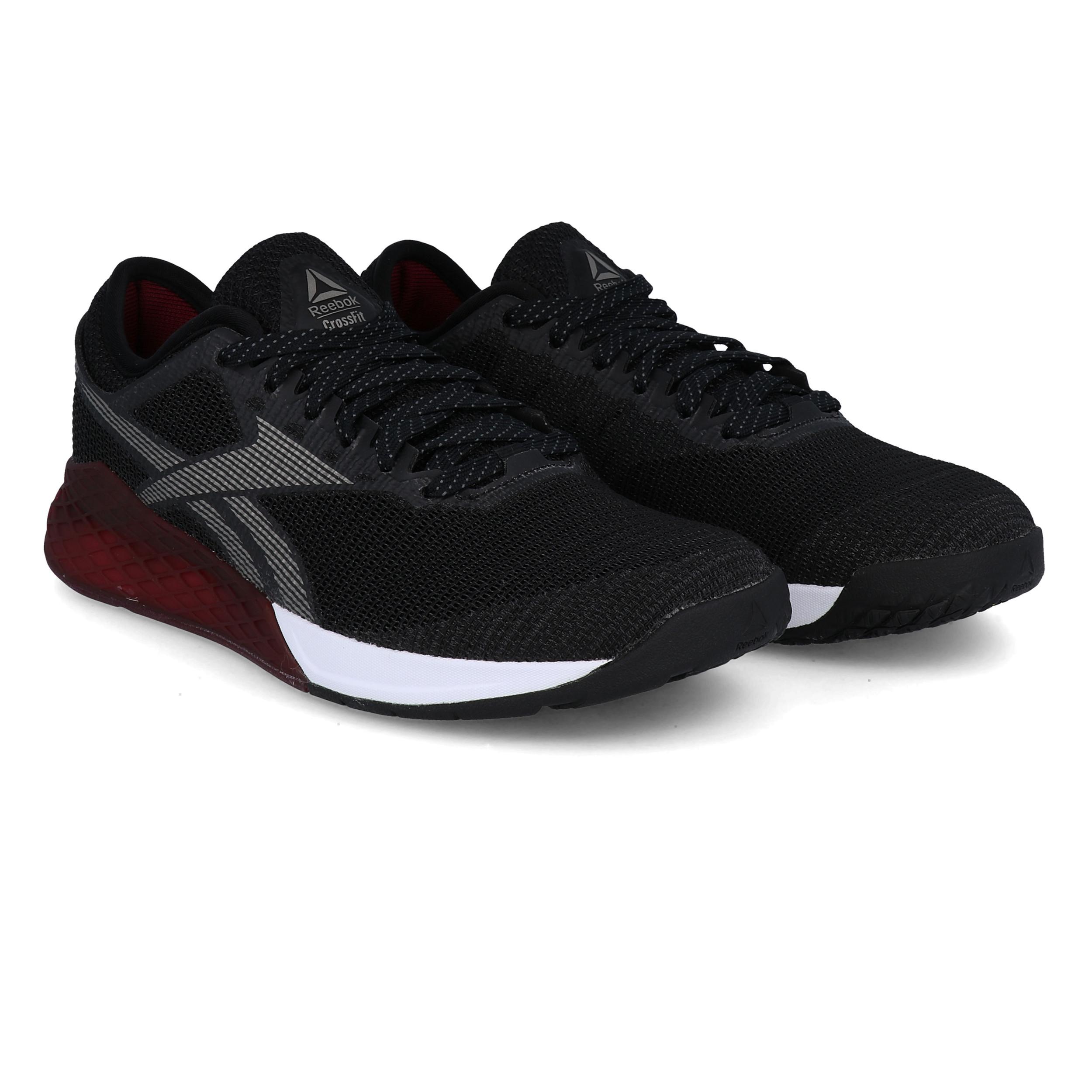 Détails sur Reebok Homme Crossfit Nano 9 Training Gym Fitness Chaussures Noir Sport Rouge afficher le titre d'origine