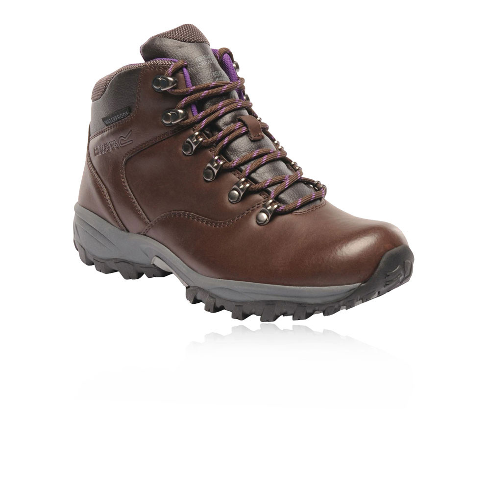 Details about Regatta Womens Bainsford WP Walking Boots Brown Sports Outdoors Water Resistant