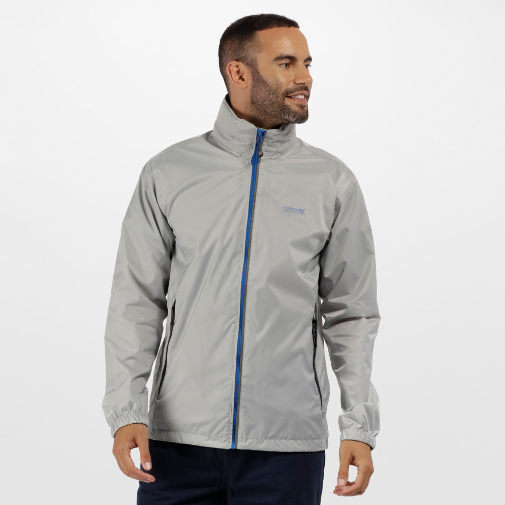 Regatta Mens Lyle IV Waterproof Hooded Jacket Top Grey Sports Outdoors Full Zip