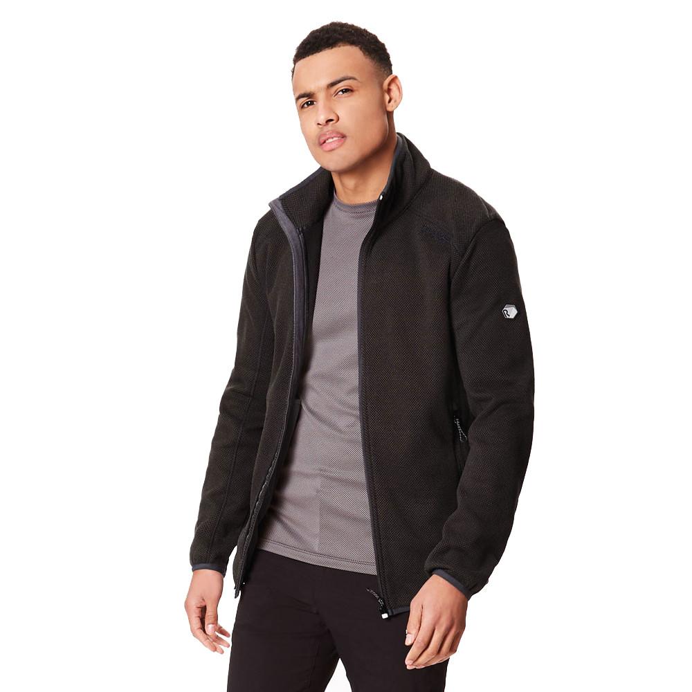 Regatta Mens Torrens Fleece Black Sports Outdoors Full Zip Warm Breathable
