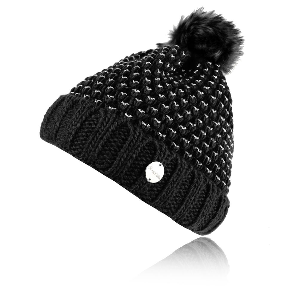 273847a1801 This fashionable pom-pom hat is best suited to a multitude of outdoor uses  from adventuring to socialising.