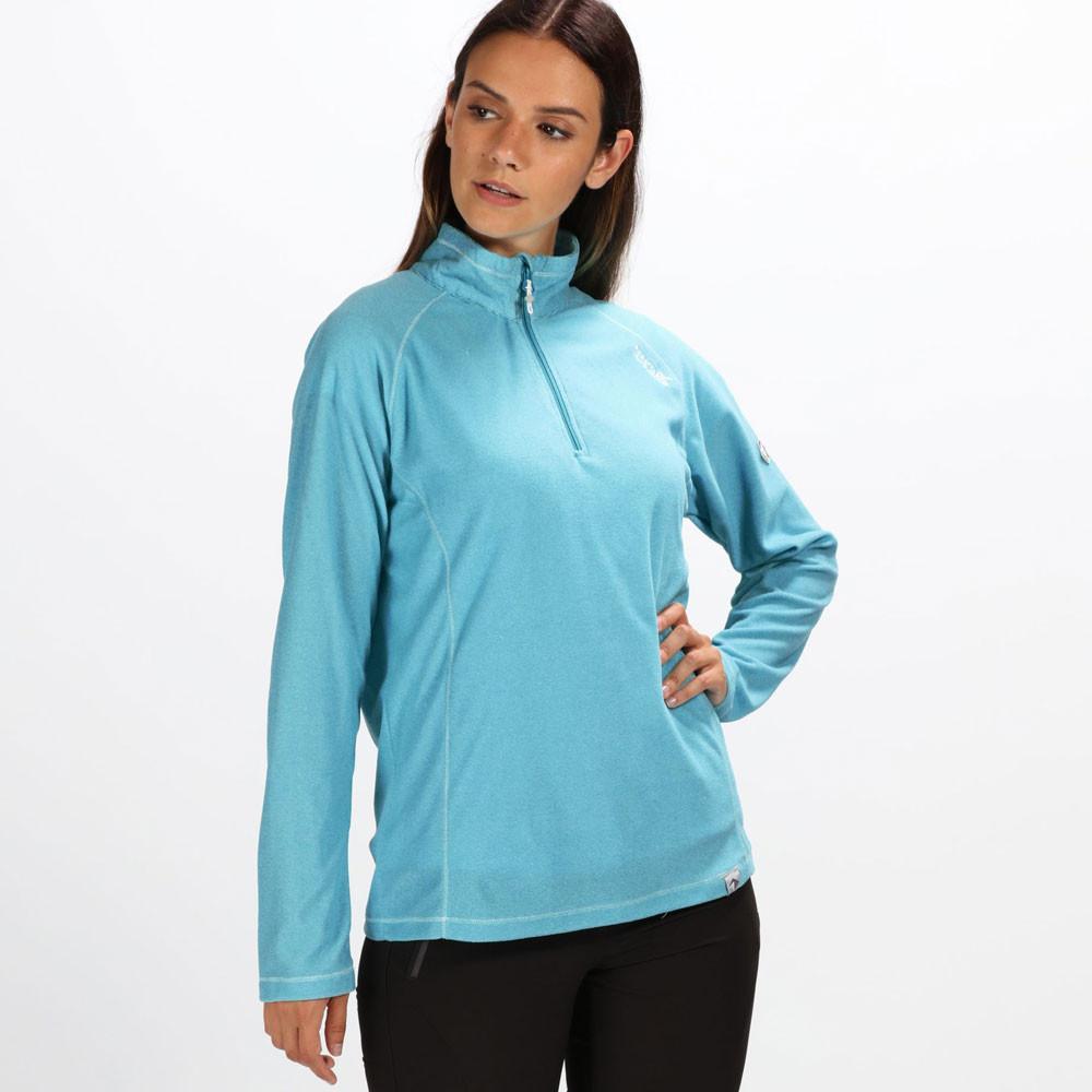 Regatta Montes media cremallera Lightweight Mini Stripe para mujer forra polar Top - SS19