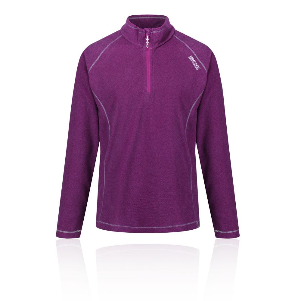 6d2351e62 Details about Regatta Womens Montes Half Zip Lightweight Mini Stripe Fleece  Top Purple Sports