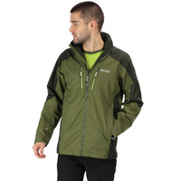 REGATTA Pour Homme Pack-it III Veste Imperméable Top Green Sports Outdoors Zip complet