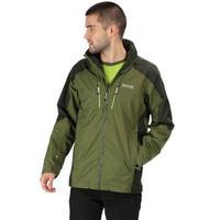 Regatta Mens Kartona Jacket Top Green Sports Outdoors Full Zip Hooded Warm Water