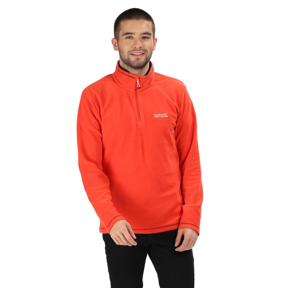 Orange Sports Outdoors Half Warm Regatta Mens Thompson Quarter Zip Fleece Top