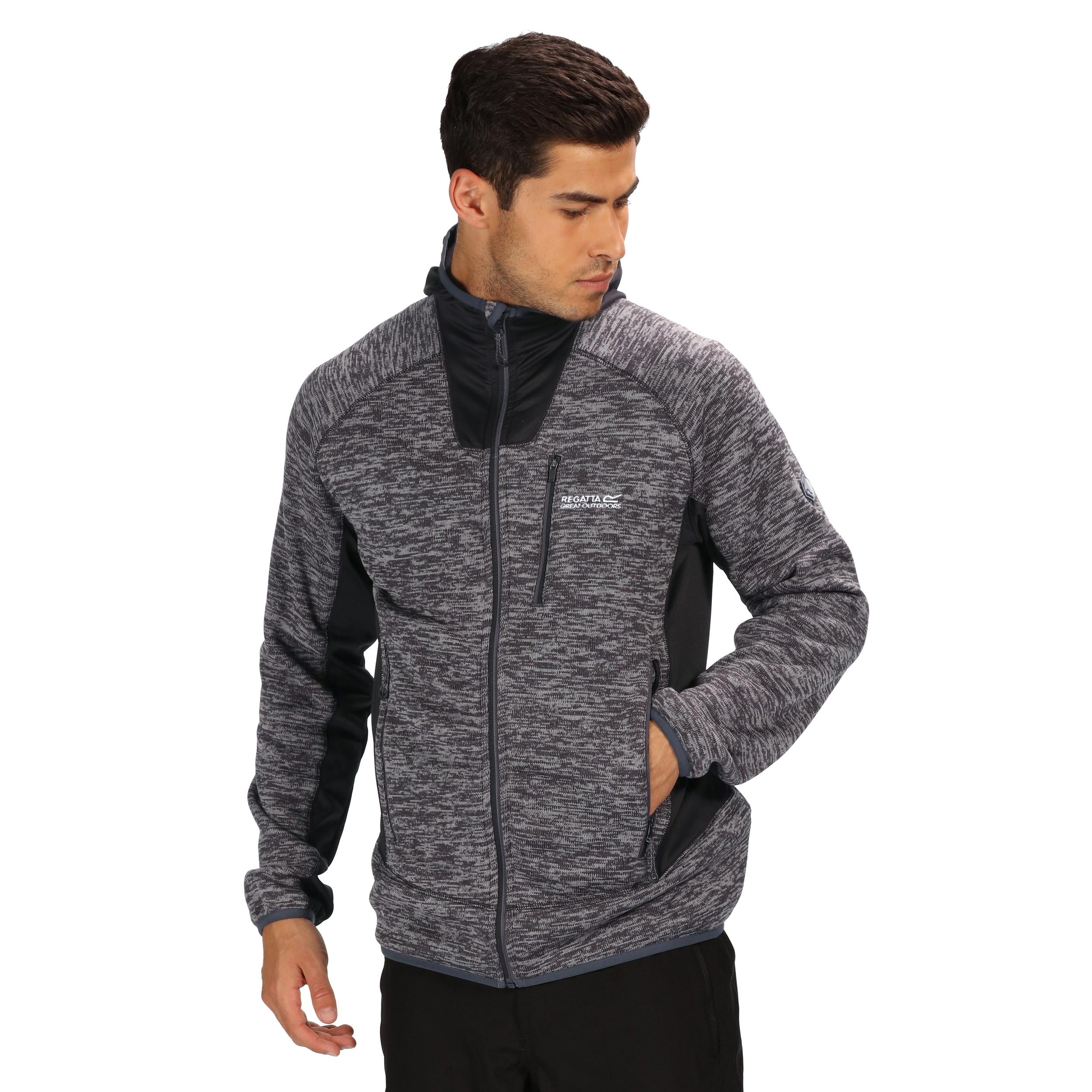 Regatta Cartersville V Mens Full Zip Stretch Hooded Fleece Jacket RRP £70