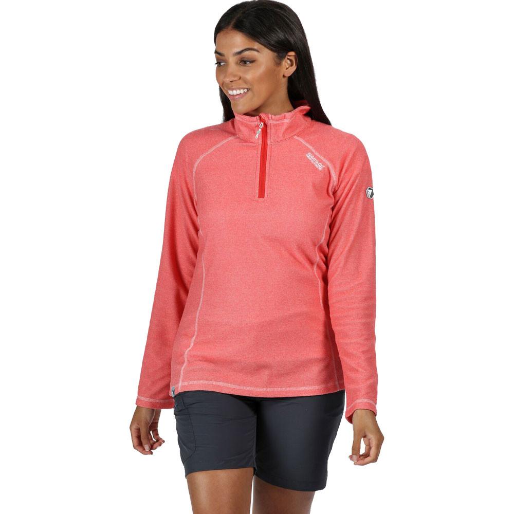 Pink Outdoors Breathable Regatta Womens Montes Half Zip Fleece Top