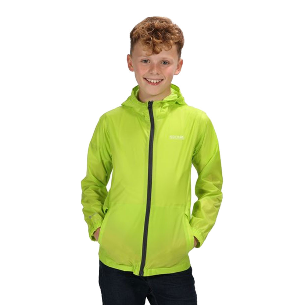 Regatta ragazzi Pack It Giacca Top-Verde SPORT ALL/'APERTO ZIP COMPLETA IMPERMEABILE