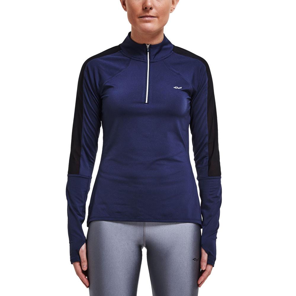 Rohnisch Hannah Damenschuhe Damenschuhe Damenschuhe Blau Long Sleeve Half Zip Work Out Sports Top 0c0e8e