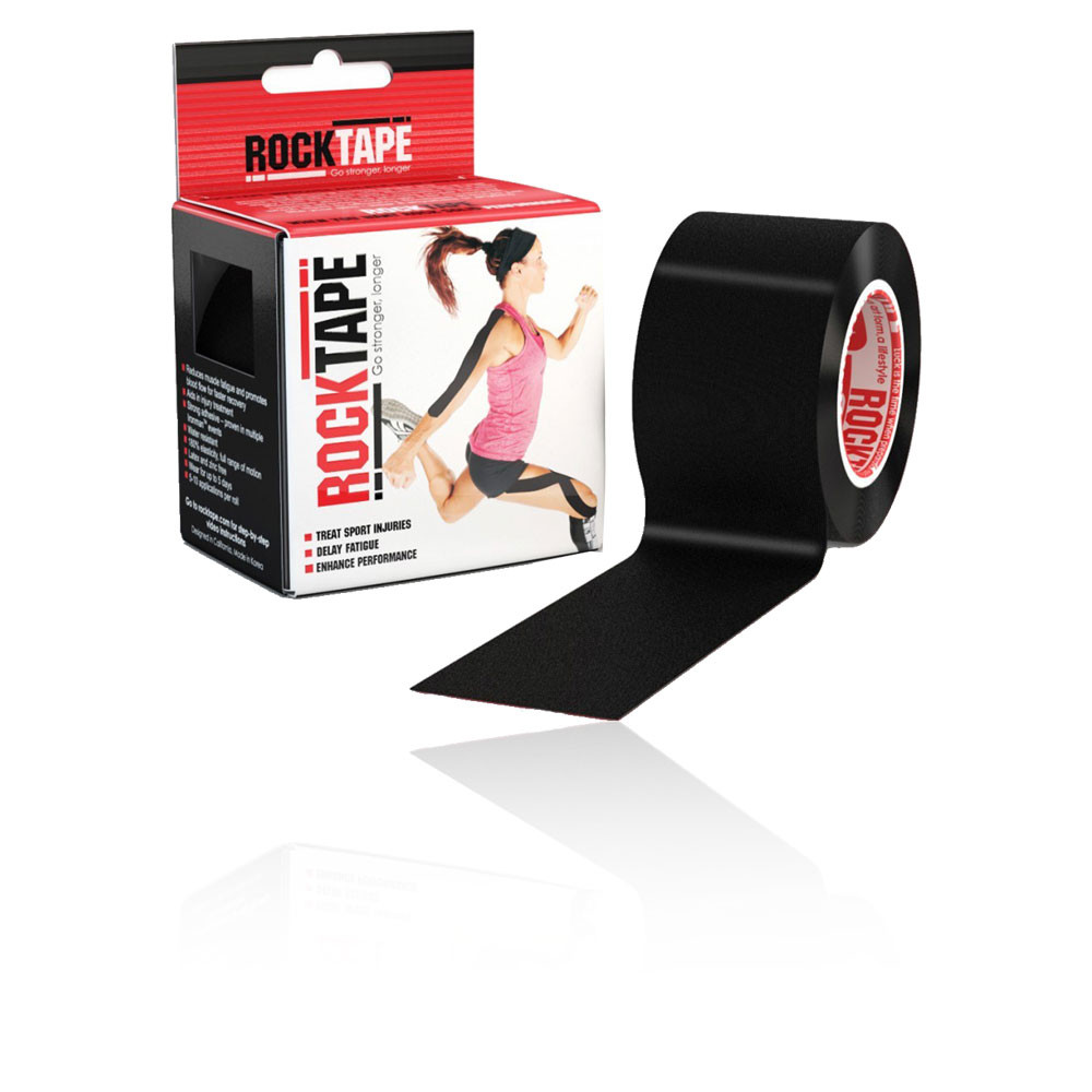 Rocktape Black Kinesiology Tape (5CM x 5M) - AW20