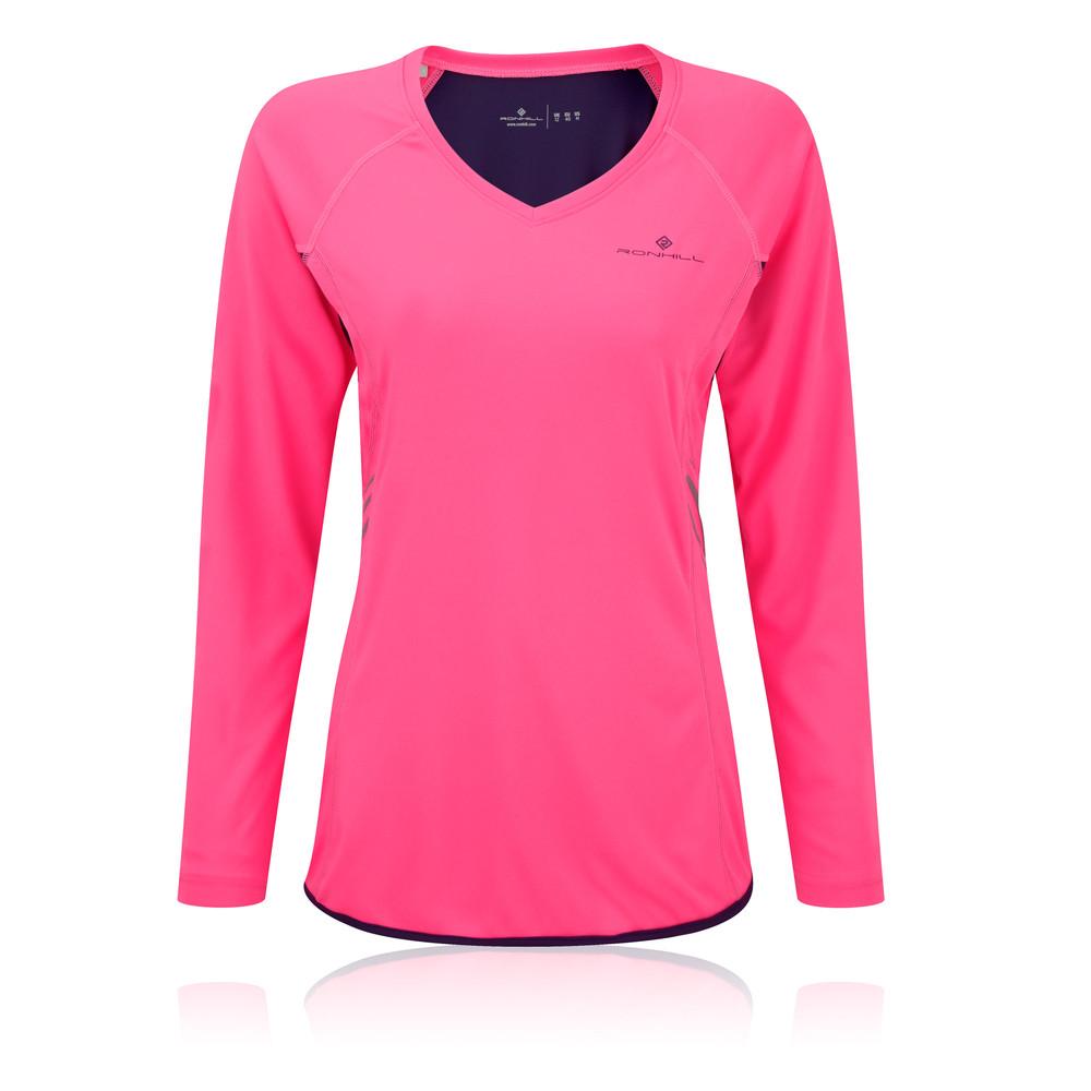 Ronhill Vizion para mujer manga largas camiseta running