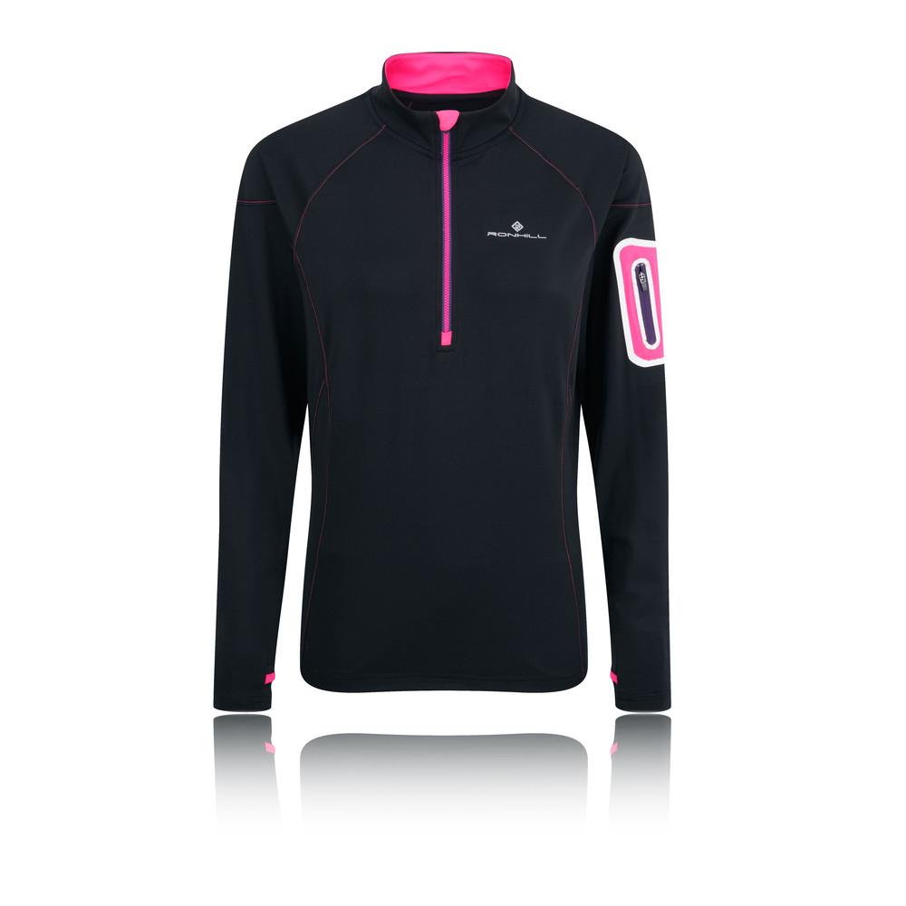 Ronhill Vizion Winter 1/2 cremallera para mujer camiseta running - AW15