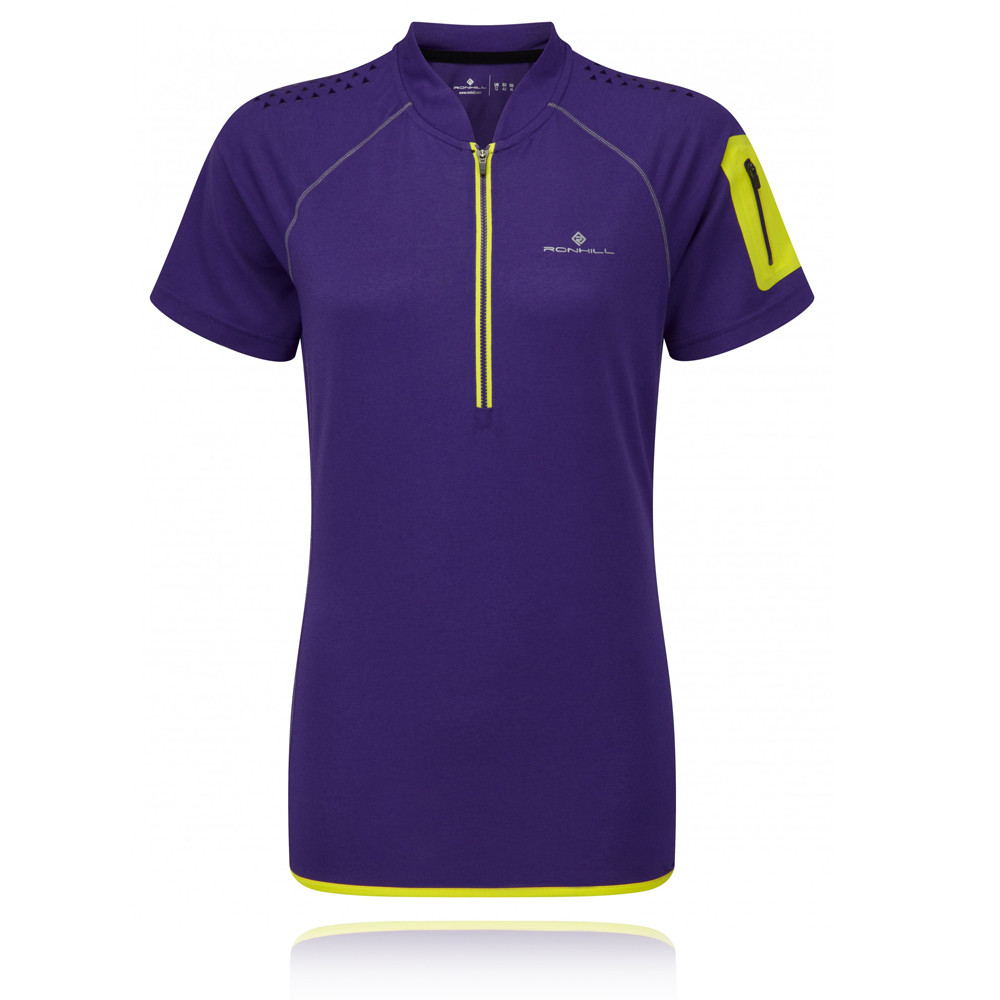 Ronhill-Trail-Womens-Purple-Half-Zip-Short-Sleeve-