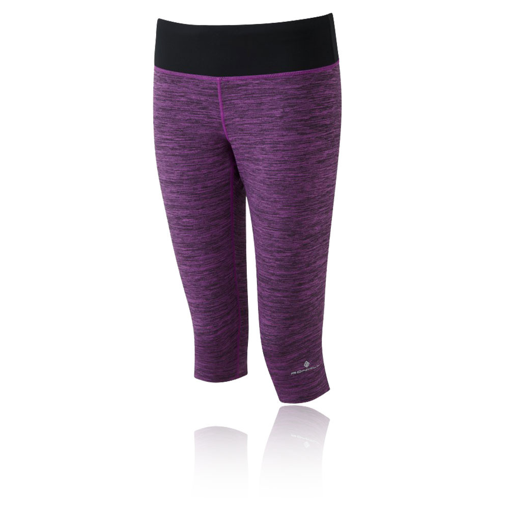 Image is loading Ronhill-Momentum-Victory-Womens-Purple-Running-Capri-Tights -