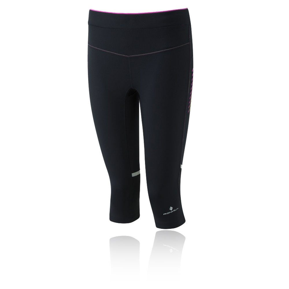 Image is loading Ronhill-Stride-Stretch-Womens-Purple-Black-Capri-Running-