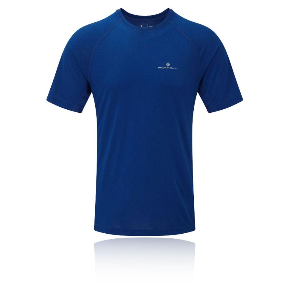 Ronhill momentum mens blue crew neck short sleeve sports t for Best mens sport shirts