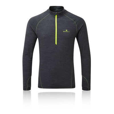 Ronhill Stride Thermal media cremallera T-Shirt