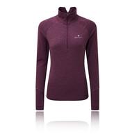 Ronhill Stride Thermal Long Sleeved para mujer cremallera Top - AW18